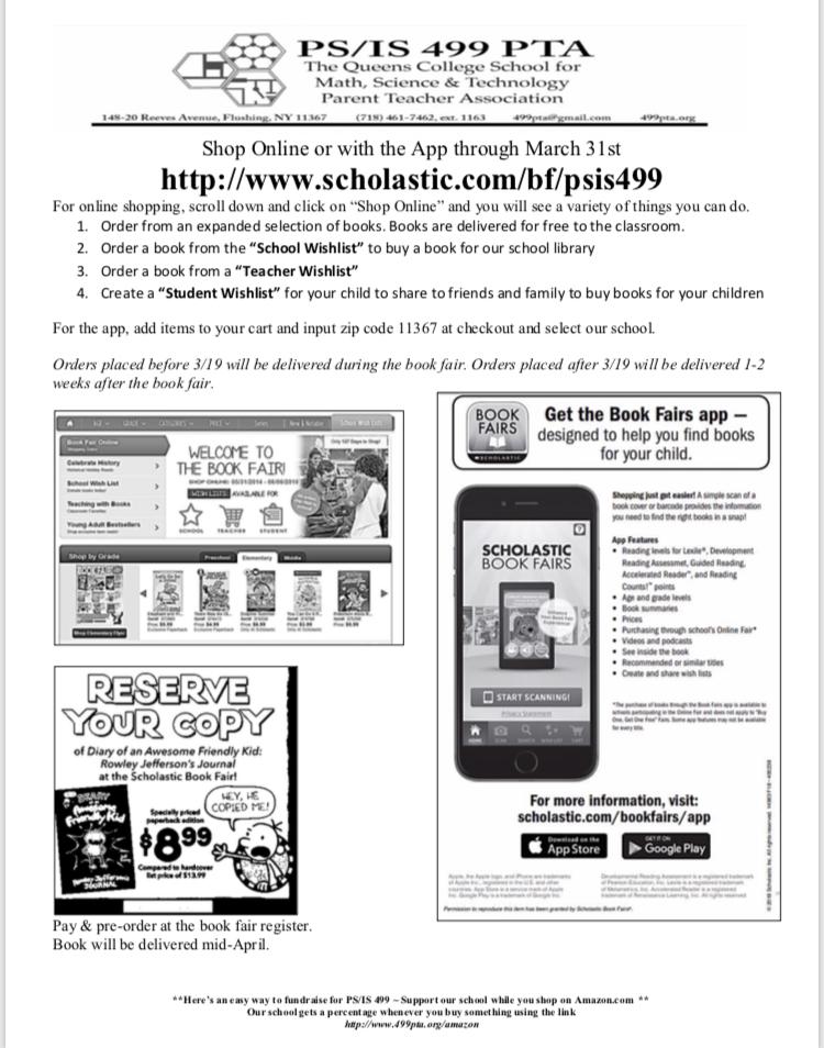 Book Fair – PS/IS 499 PTA